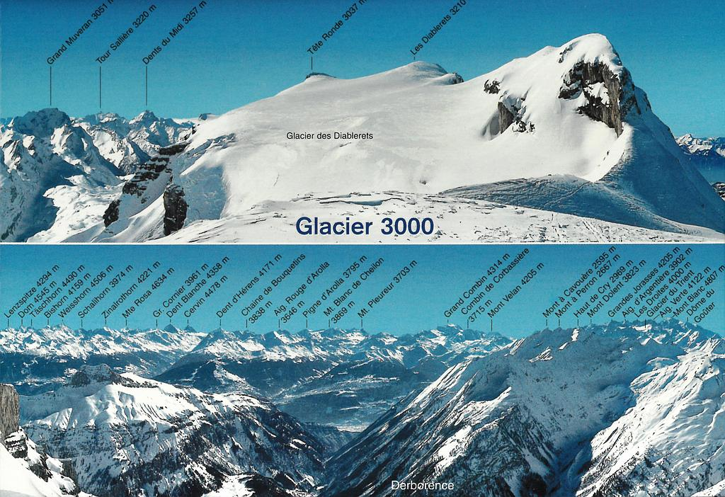 Postcards 23172 w Glacier 3000