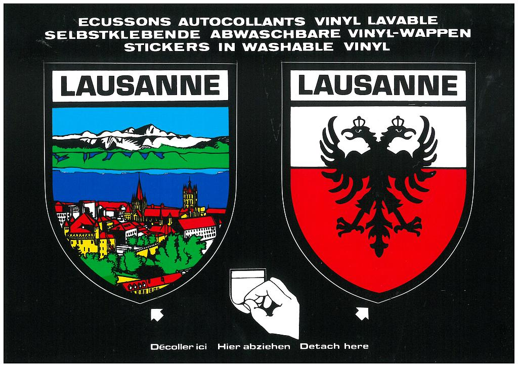 Postcards SK 236 Sticker Lausanne