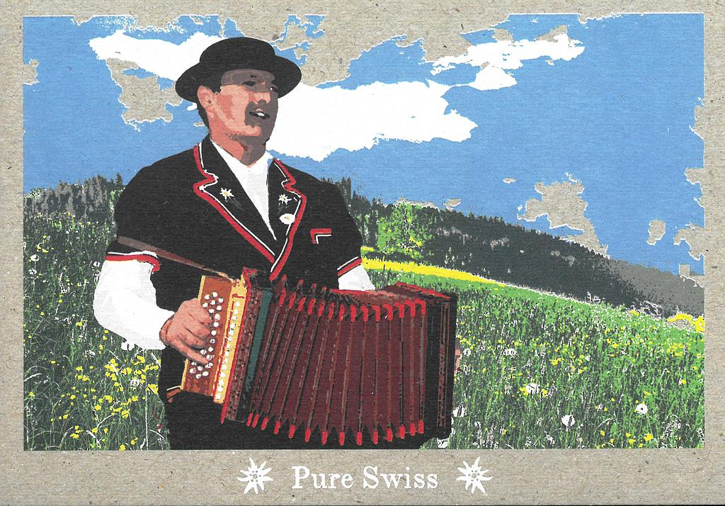 Postcards 51124 Pure Swiss Accordéoniste