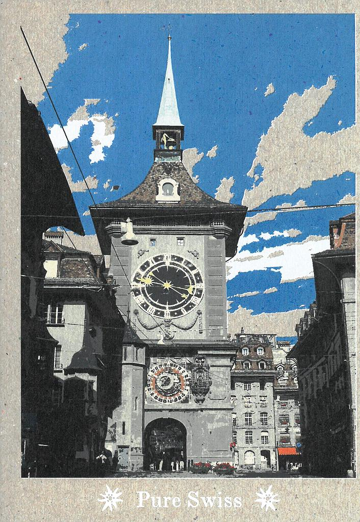 Postcards 51134 Pure Swiss tour de l'horloge Berne