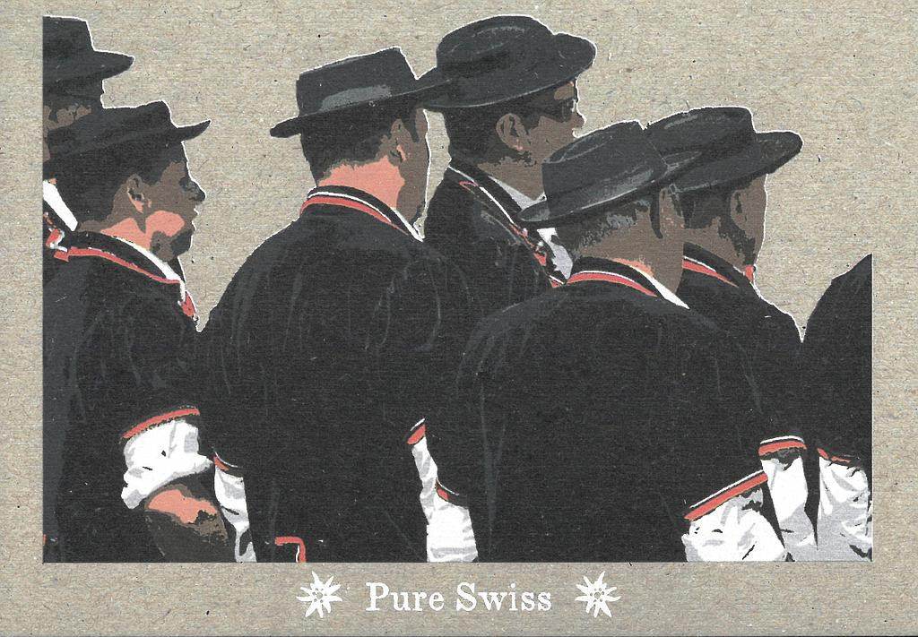 Postcards 51125 Pure Swiss costume typique
