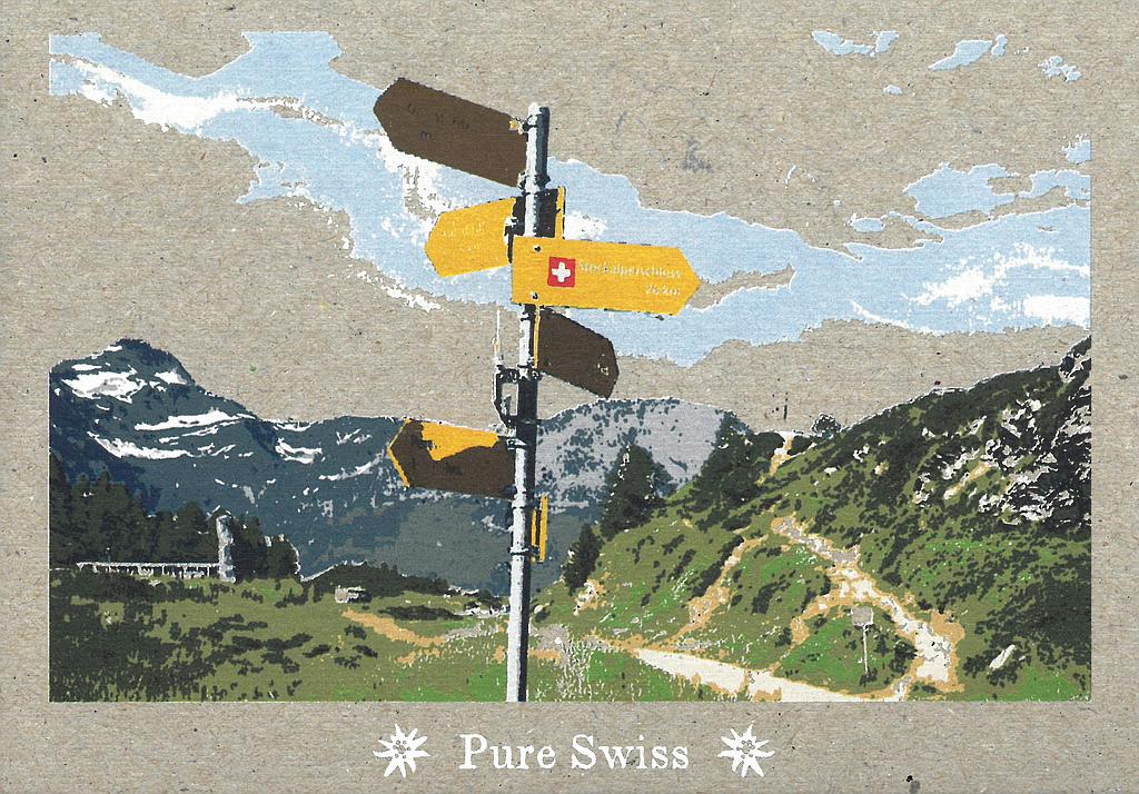 Postcards 51121 Pure Swiss Signalisations