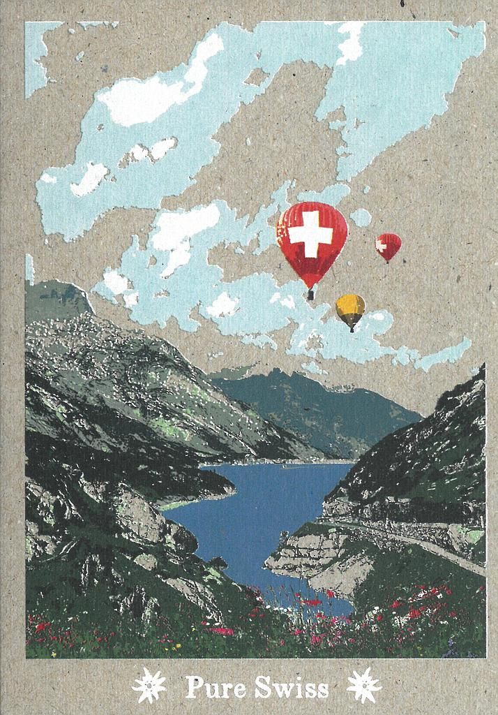 Postcards 51135 Pure Swiss Montgolfière