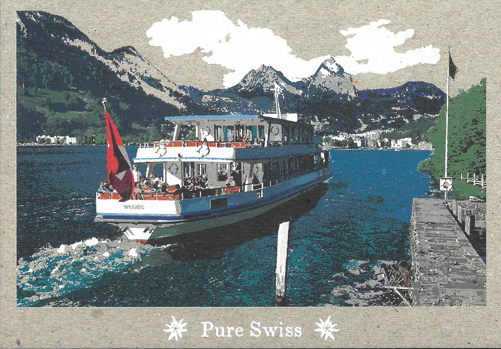 Postcards 51123 Pure Swiss Bateau