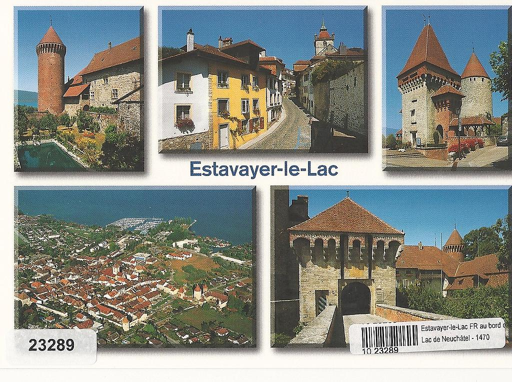 Postcards 23289 Estavayer-le-Lac