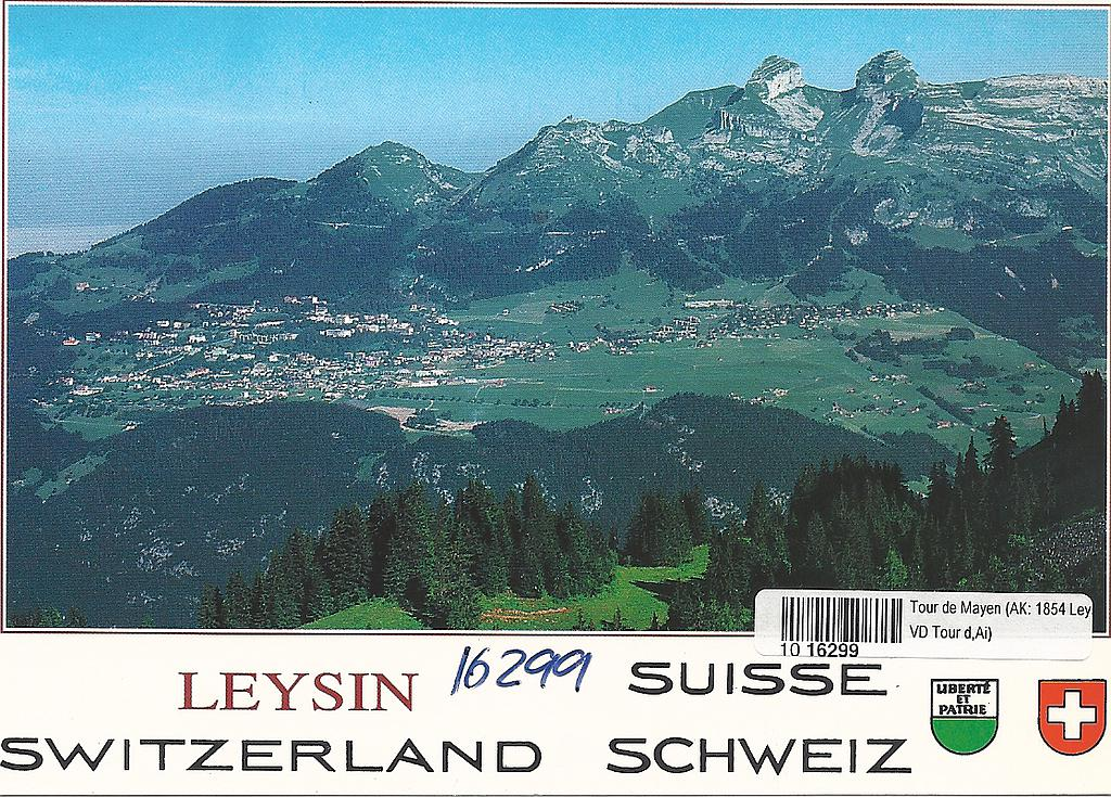 Postcards 16299 Leysin-Tour d'Aï