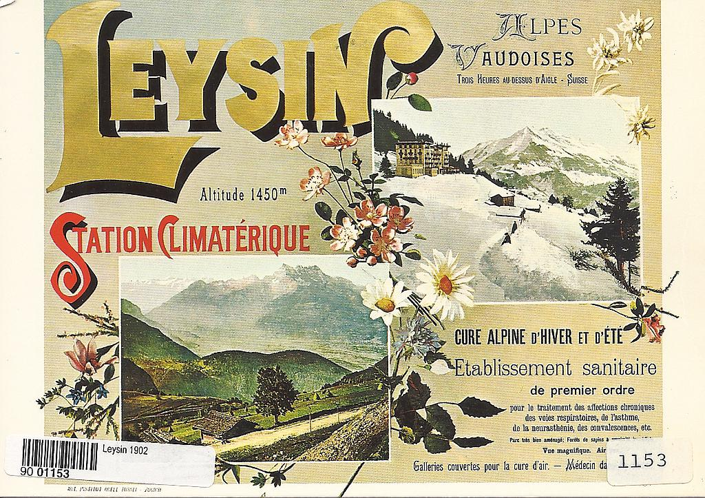 Postcards A6 Litho 01153 Leysin