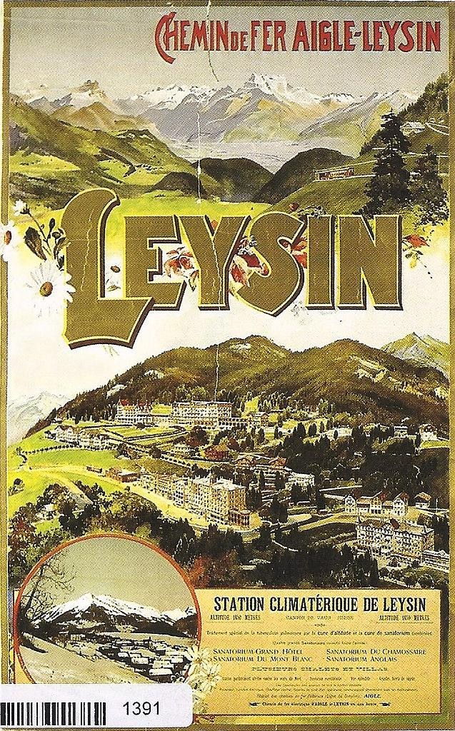 Postcards A6 Litho 01391 Leysin