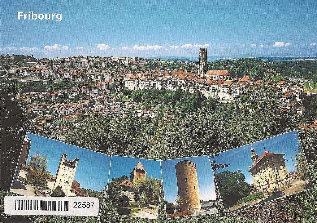 Postcards 22587 Fribourg