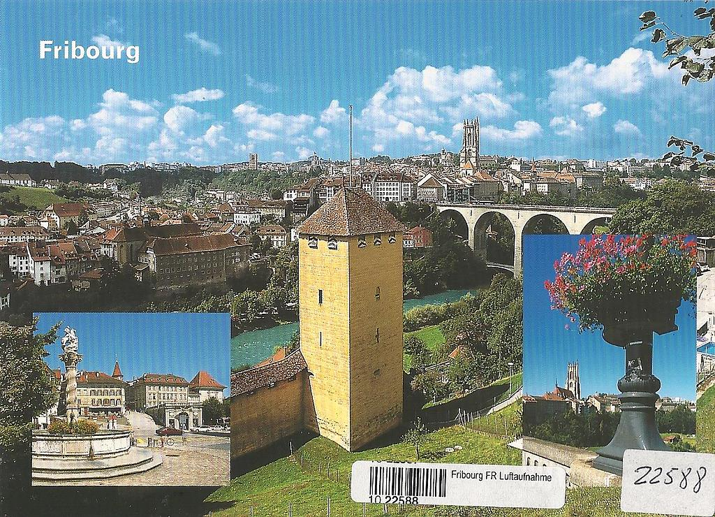 Postcards 22588 Fribourg