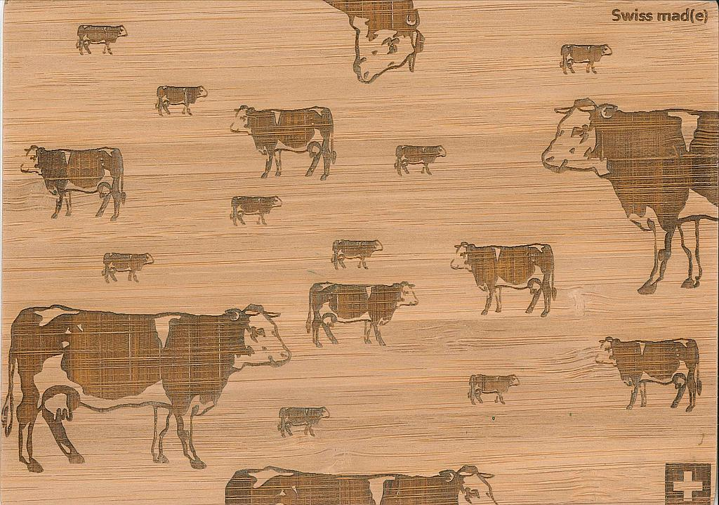 Postcards Bamboo Vache