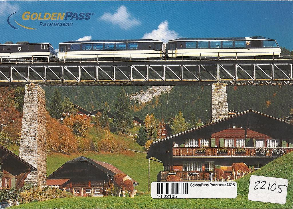 Postcards 22105 Golden Pass Panoramic MOB
