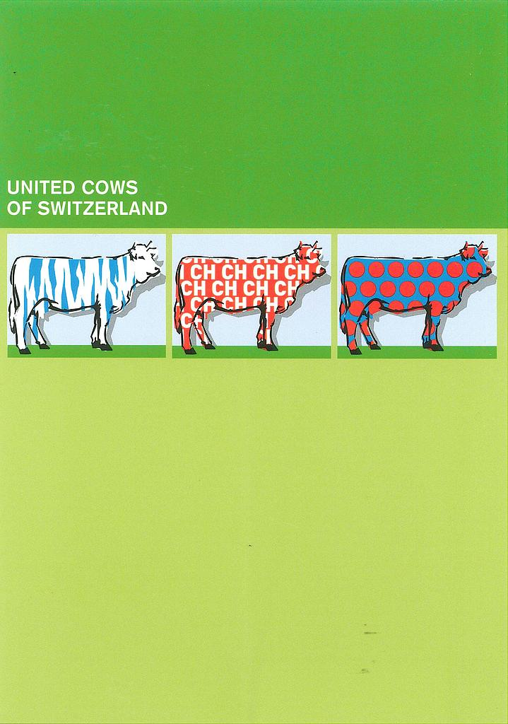 Postcards SOLDE N145 24666 Vaches 'United cows of Switzerland'
