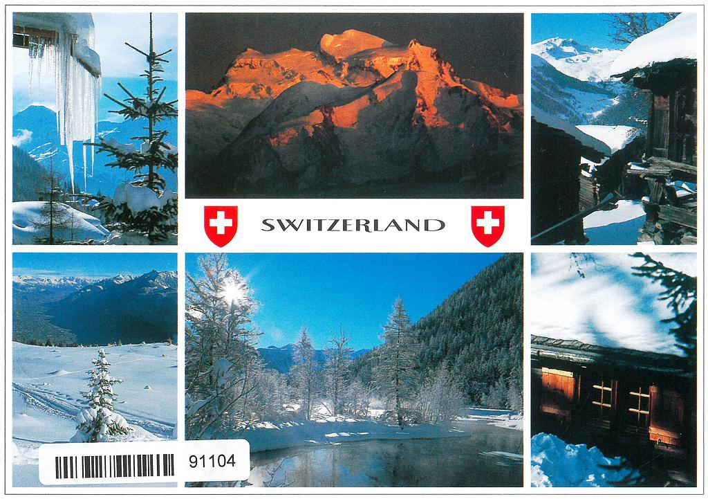 Postcards 91104 w Switzerland hiver