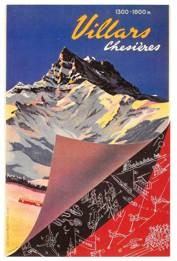 Postcards A6 Litho 01414 Villars-Chesières